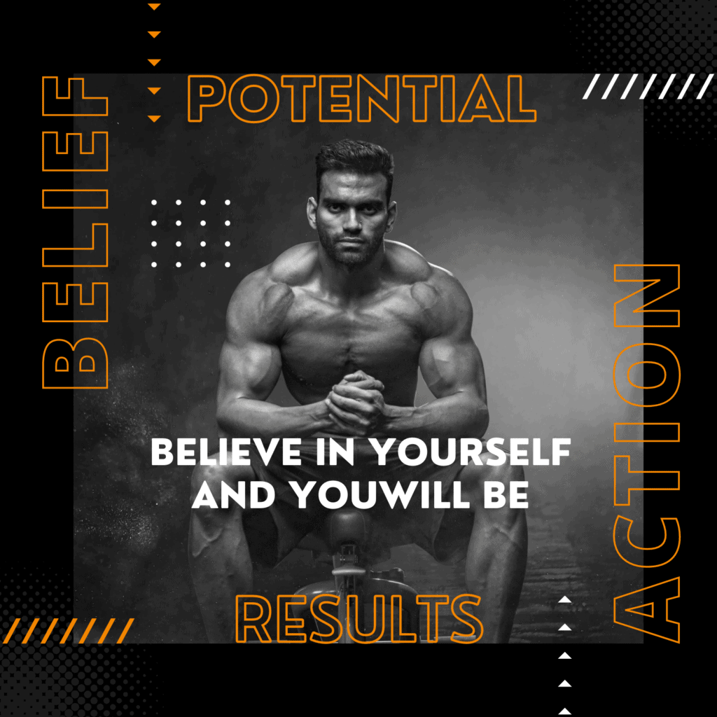 Potential is within each individual. Potential is never achieved without Action. Action always yields Results. The results that you attain, affect your Belief.